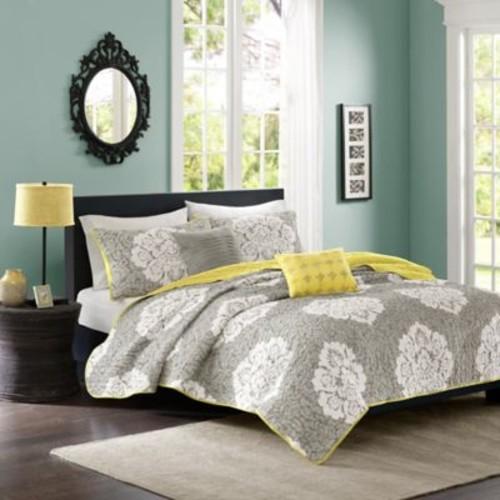 Intelligent Design Tanya King/California King Quilt Set in Grey