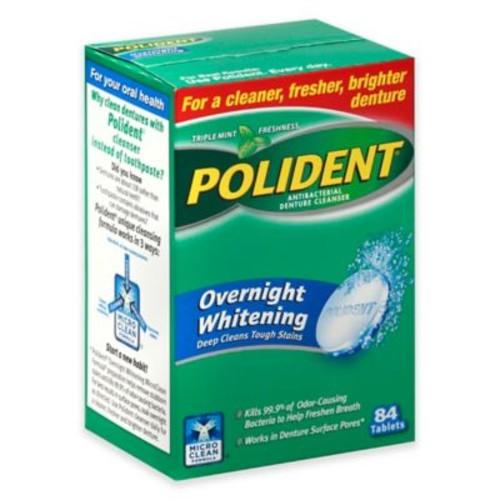 Polident 84-Count Overnight Whitening Denture Cleaner