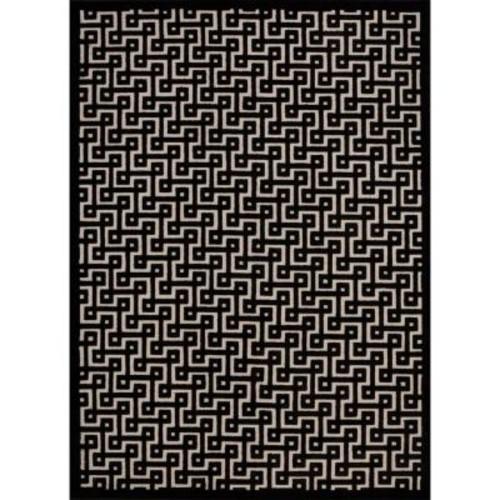 Nourison Overstock Ultima Ivory/Black 4 ft. x 6 ft. Area Rug