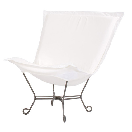 Seascape Natural Upholstered Puff Patio Chair