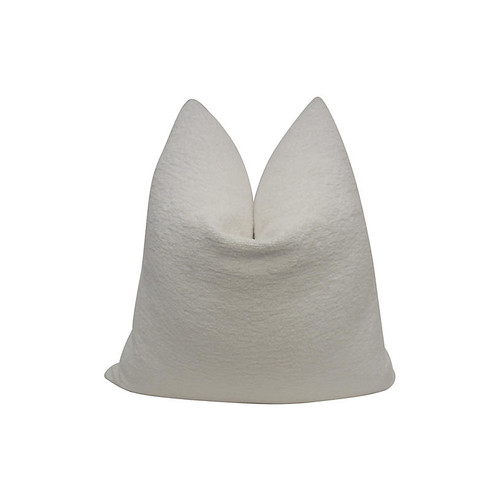 Ivory Terry-Cloth Indoor/Outdoor Pillow