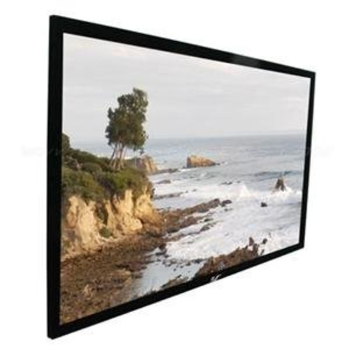 Elite Screens Sable Frame, 100-inch 16:9, Sound Transparent Fixed Frame Projection Projector Screen, ER100WH1-A1080P2 [16:9, 100-inch, AcousticPro1080P2]