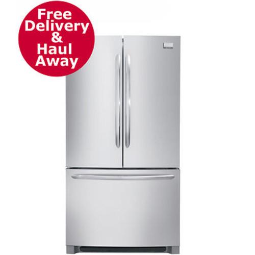 Frigidaire Gallery 22.6-Cu. Ft. Counter-Depth Non-Dispenser French Door Refrigerator/Freezer - Stainless Steel