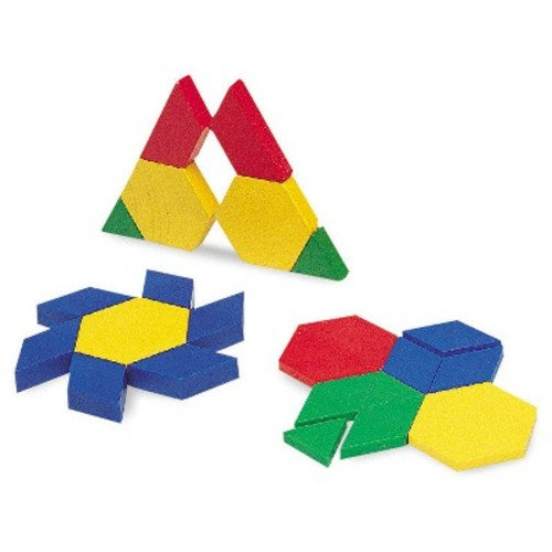 Learning Resources 0.5 cm Plastic Pattern Blocks, Set of 100