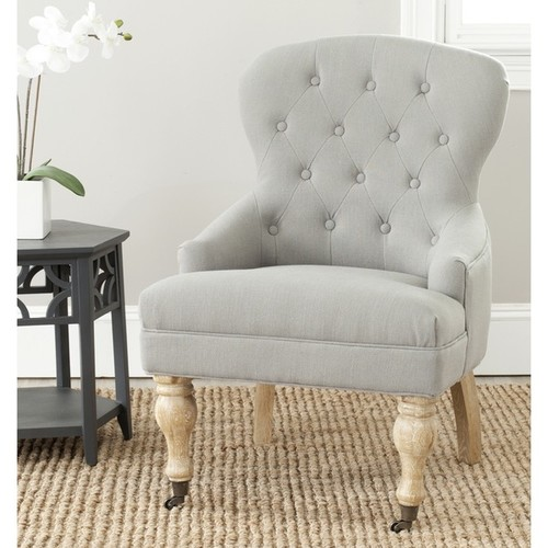 Falcon Linen Arm Chair by Safavieh