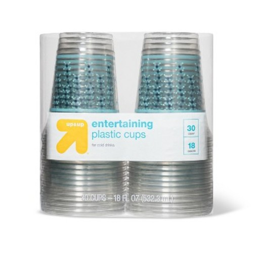 Entertaining Disposable Plastic Cups for Cold Drinks - 30ct - up & up