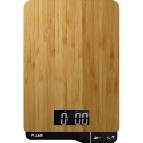 American Weigh Scales - EcoWeigh Digital Kitchen Scale - Bamboo
