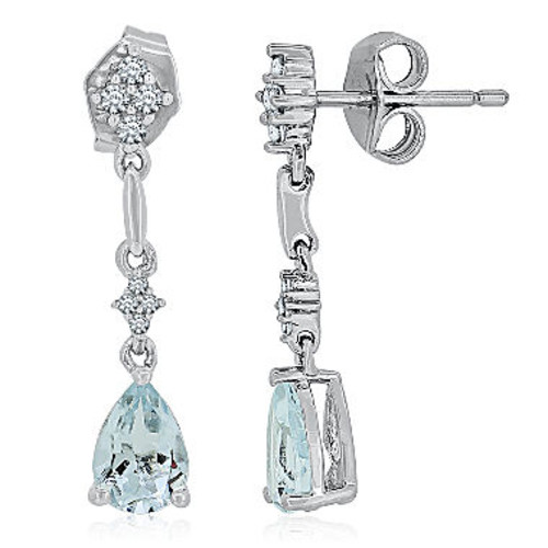 Blue Aquamarine Sterling Silver Drop Earrings - JCPenney