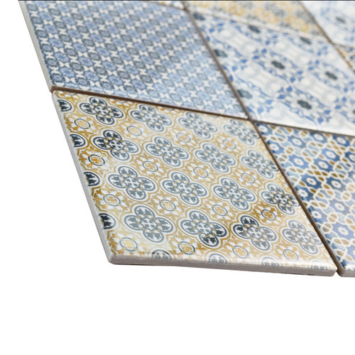 SomerTile 11.625x11.625-inch Ludwig Porcelain Mosaic Floor and Wall Tile (Case of 5)