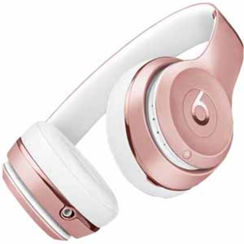 Beats By Dre Solo3 Bluetooth On-Ear Headphones with Mic Control - Rose G