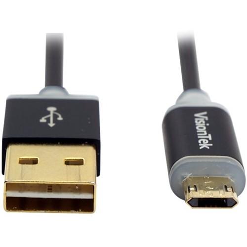 VisionTek - 3.3' Micro USB-to-USB Device Cable - Black