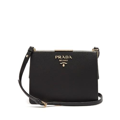 Saffiano-leather shoulder bag