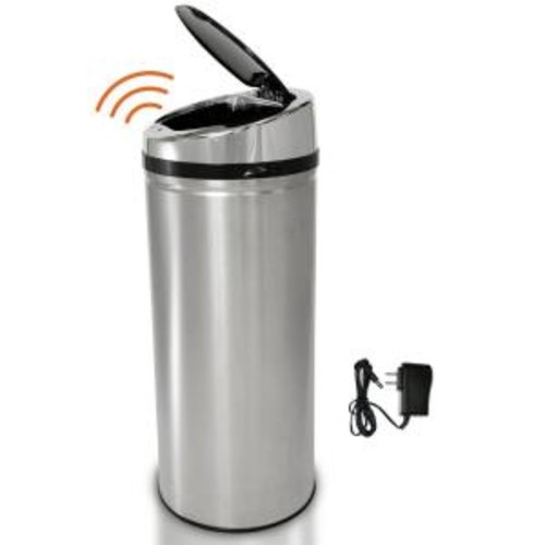 iTouchless 8 Gal. Stainless Steel Motion Sensing Touchless Trash Can
