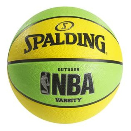 Spalding NBA Varsity Neon Outdoor Basketball - Green Yellow - Official Size 7 (29.5-inches)