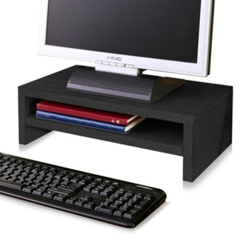 Eco Friendly 2-Shelf Monitor Stand Riser Black - Way Basics