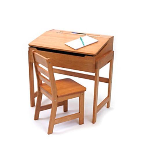 Lipper International 2-pc. Children's Slanted Desk & Chair Set - Pecan