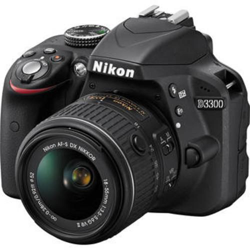 D3300 DSLR Camera with 18-55mm Lens (Black)