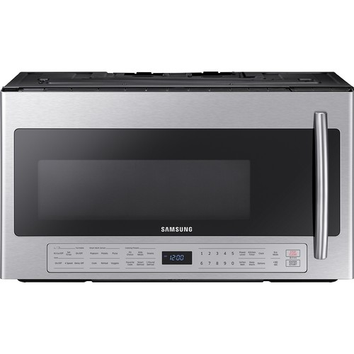 Samsung - 2.1 Cu. Ft. Over-the-Range Microwave with Sensor Cooking - Stainless steel