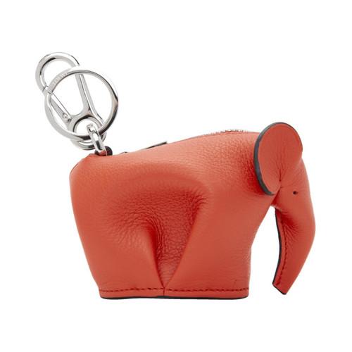 Red Elephant Charm Keychain