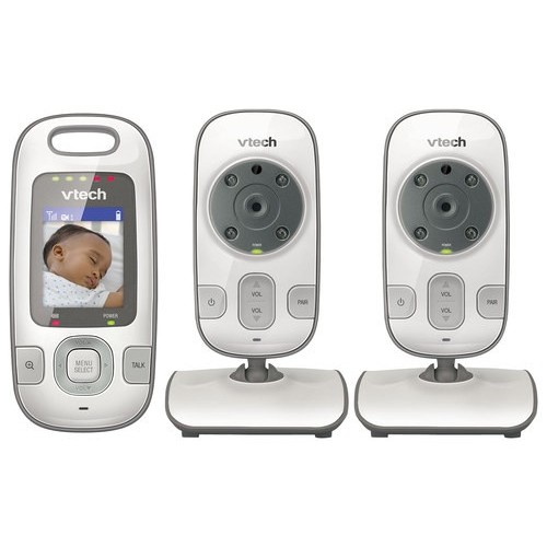 VTech - Safe&Sound 2-Camera Baby Monitor - White/Silver