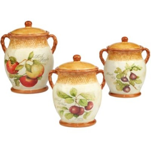 Certified International Tuscan Fruit by Susan Winget 3-Piece Canister Set