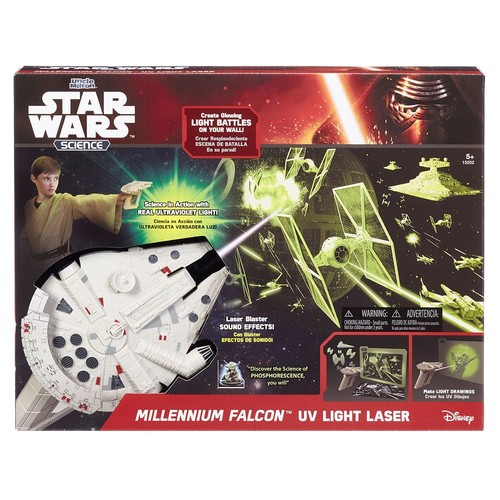 Uncle Milton Millennium Falcon UV Light Laser Star Wars Science