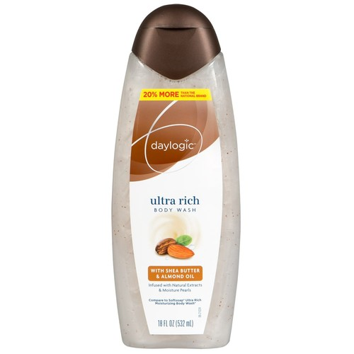Daylogic Ultra Rich Body Wash, Shea Butter and Almond Oil, 18 fl oz, 1 Count