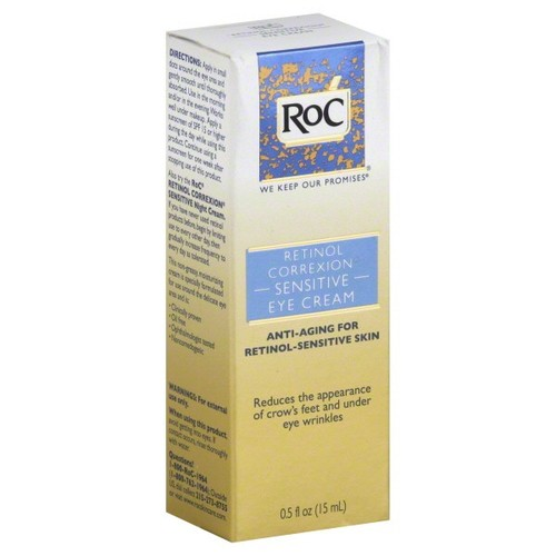 Roc retinol correxion eye cream,sensitive,0.5 Fl oz (15 ml)