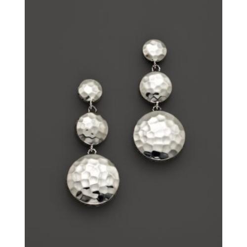 Palu Sterling Silver Triple Drop Linear Earrings
