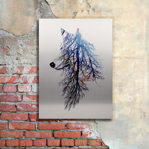 Robert Farkas 'My Roots' Floating Brushed Aluminum Art