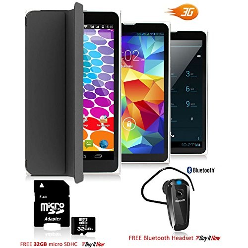 Indigi Unlocked 7.0in Android 3G SmartPhone + Tablet PC WiFi + (Built-in SmartCover & Bundle Included)