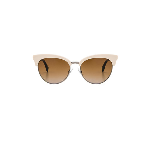 Fendi Cat Eye Sunglasses in White & Brown Gradient
