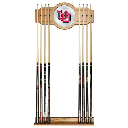 Utah Utes Billiard Cue Rack with Mirror