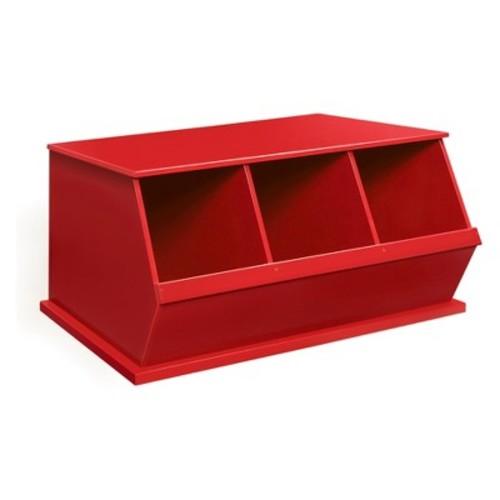 Badger Basket Three Bin Storage Cubby - Red