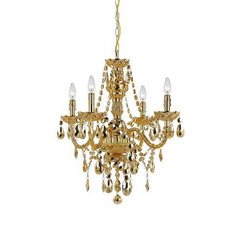 AF Lighting 8912-4H Naples Four-Light Mini Chandelier - Gold [Gold Metallic]