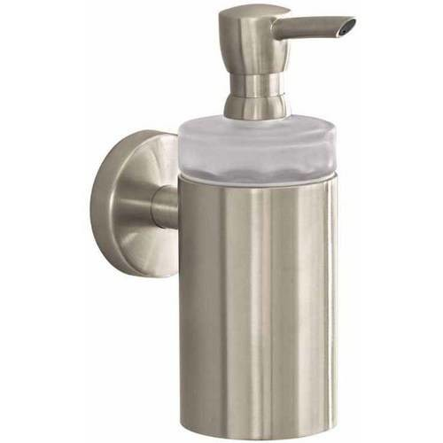 Hansgrohe Wall-Mount Brass Soap Dispenser in Brushed Nickel