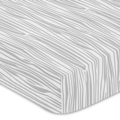 Sweet Jojo Designs Woodland Deer Wood Grain Fitted Crib Sheet