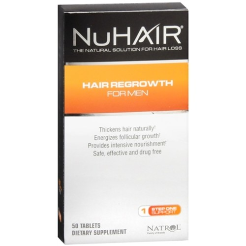 NuHair Hair Regrowth for Men Tablets 50 Tablets (Pack of 2)