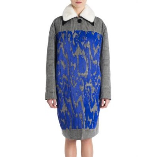 MARNI Mink Fur-Collar Embroidered Coat