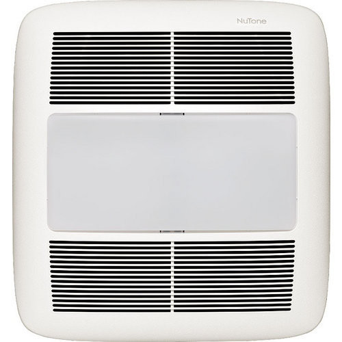 NuTone XN80L 80 CFM 0.3 Sone Ceiling Mounted Energy Star Rated and HVI Certified Bath Fan with Light, Night Light and Reducer