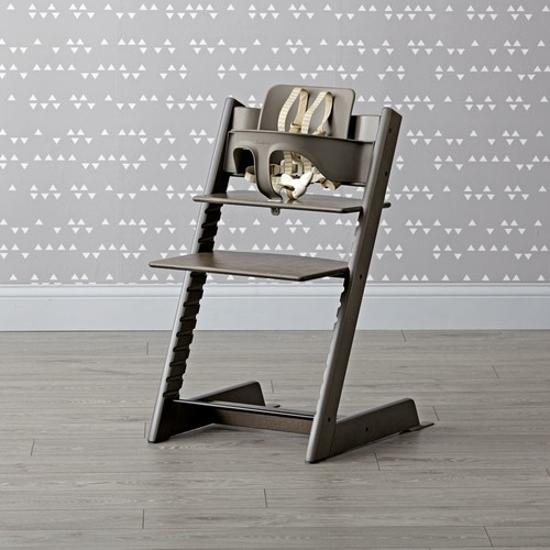 Hazy Grey Tripp Trapp High Chair and Baby Set from Stokke