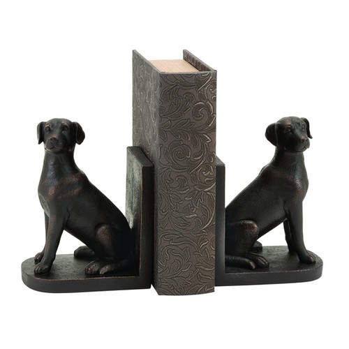 Polystone Dog Themed Book End