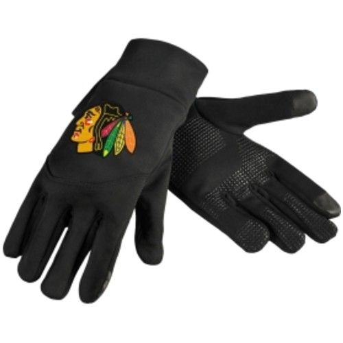 Forever Collectibles Chicago Blackhawks Texting Black Gloves