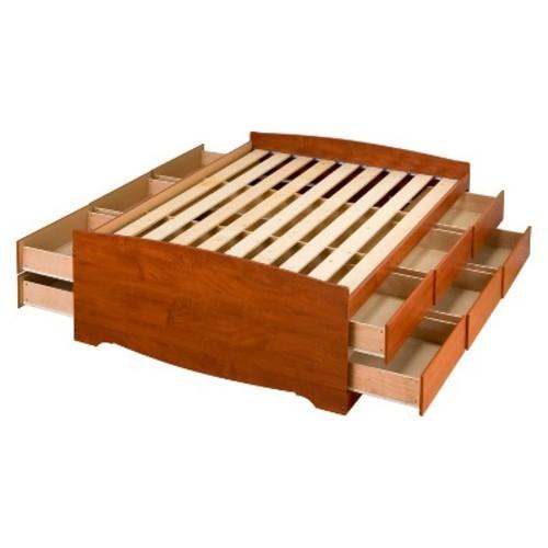 Prepac Monterey Full Wood Storage Bed