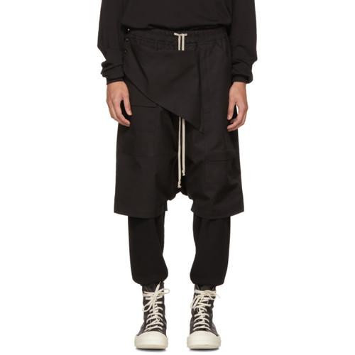 RICK OWENS DRKSHDW Black Cotton Memphis Pods Shorts