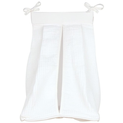 Trend Lab White Pique Diaper Stacker