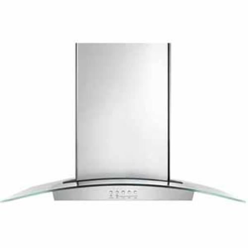 Whirlpool 36 Modern Glass Wall Mount Range Hood - Stainless Steel