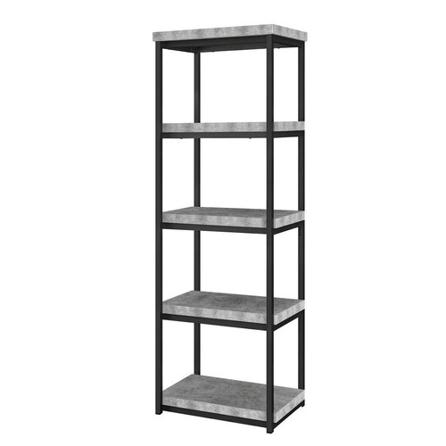 Ameriwood Home Yellowstone Concrete Gray 4-Shelf Open Bookcase