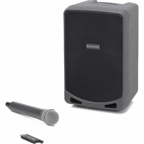 Samson Expedition XP106w Rechargeable portable powered speaker with Bluetooth and wireless microphone