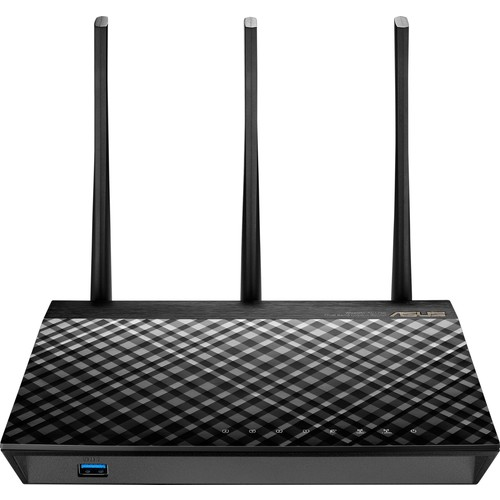 Asus - Wireless-AC1750 Dual-Band Wi-Fi Router - Black